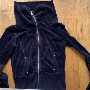 Twisted heart Couture- like new velour zip up